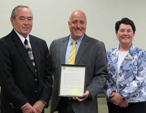 Ted Lang, Mayor Carpenter, Diana DiGiorgi
