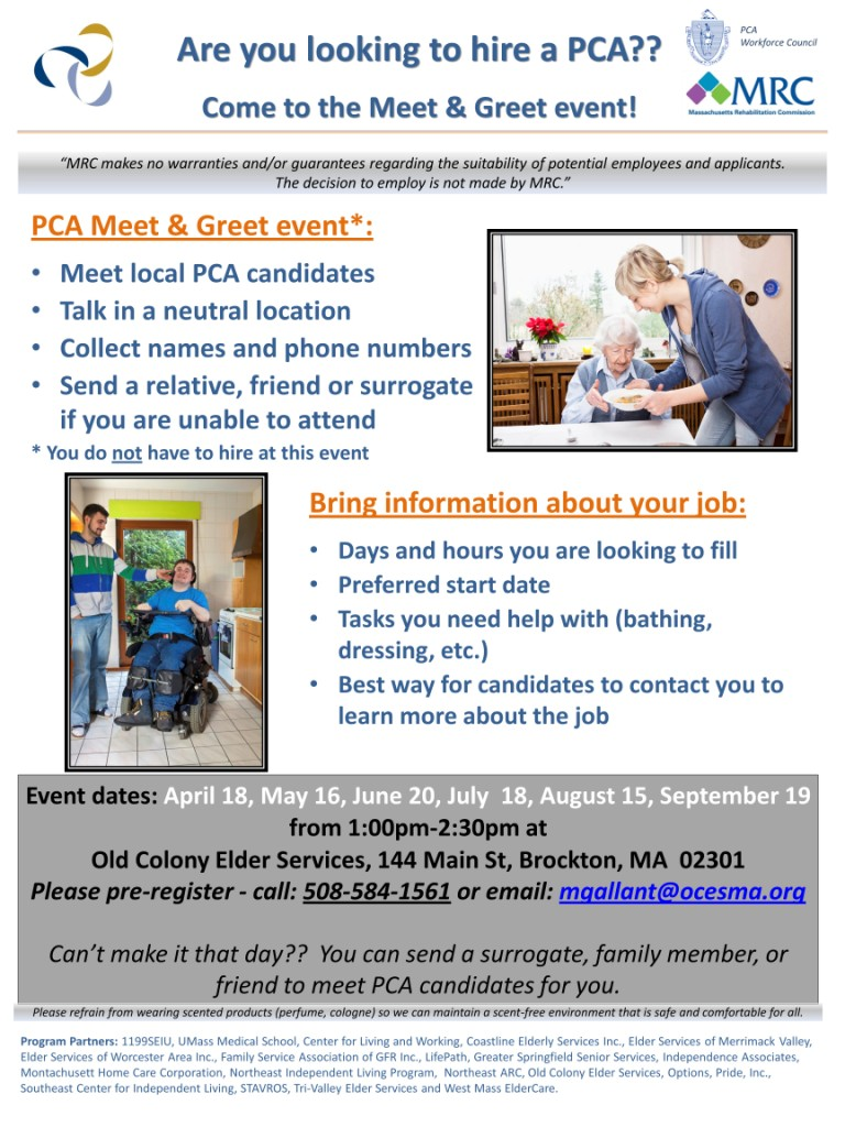 Meet Greet To Hire A Pca Old Colony Elder Services