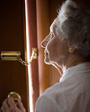 elderly women at door